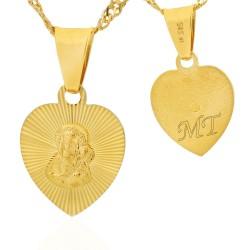 złoty medalik z grawerem na prezent dla dziecka