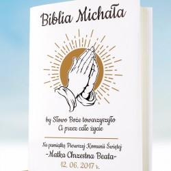 spersonalizowana biblia na prezent z okazji komunii