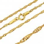 złoty łańcuszek z zawieszką na prezent na komunię