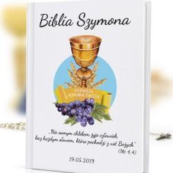 biblia dla dzieci z nadrukiem Dobry Jak Chleb na pamiątkę komunii