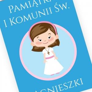 kartka komunijna z imieniem dziewczynka